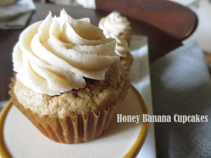Honey Roasted Banana Cupcakes