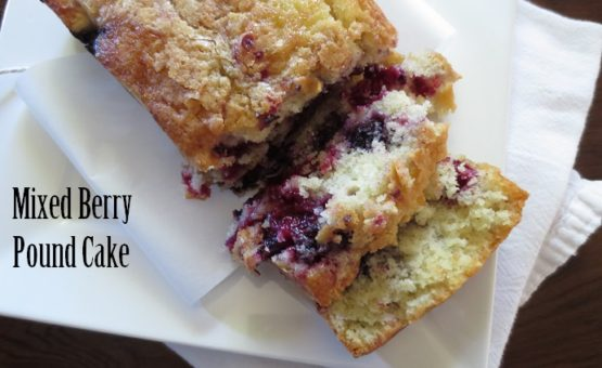 Mixed Berry Pound Cake
