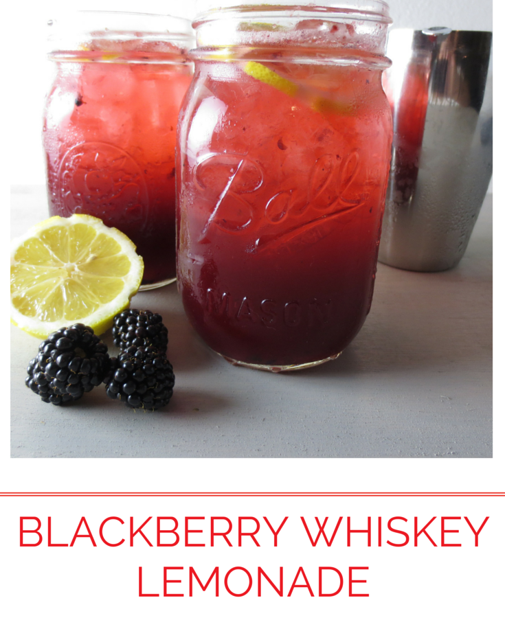 Blackberry whiskeylemonade