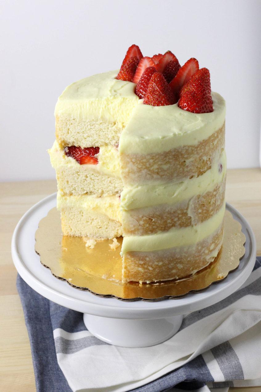 Vanilla Layer Cake | Berries and Cream Cake