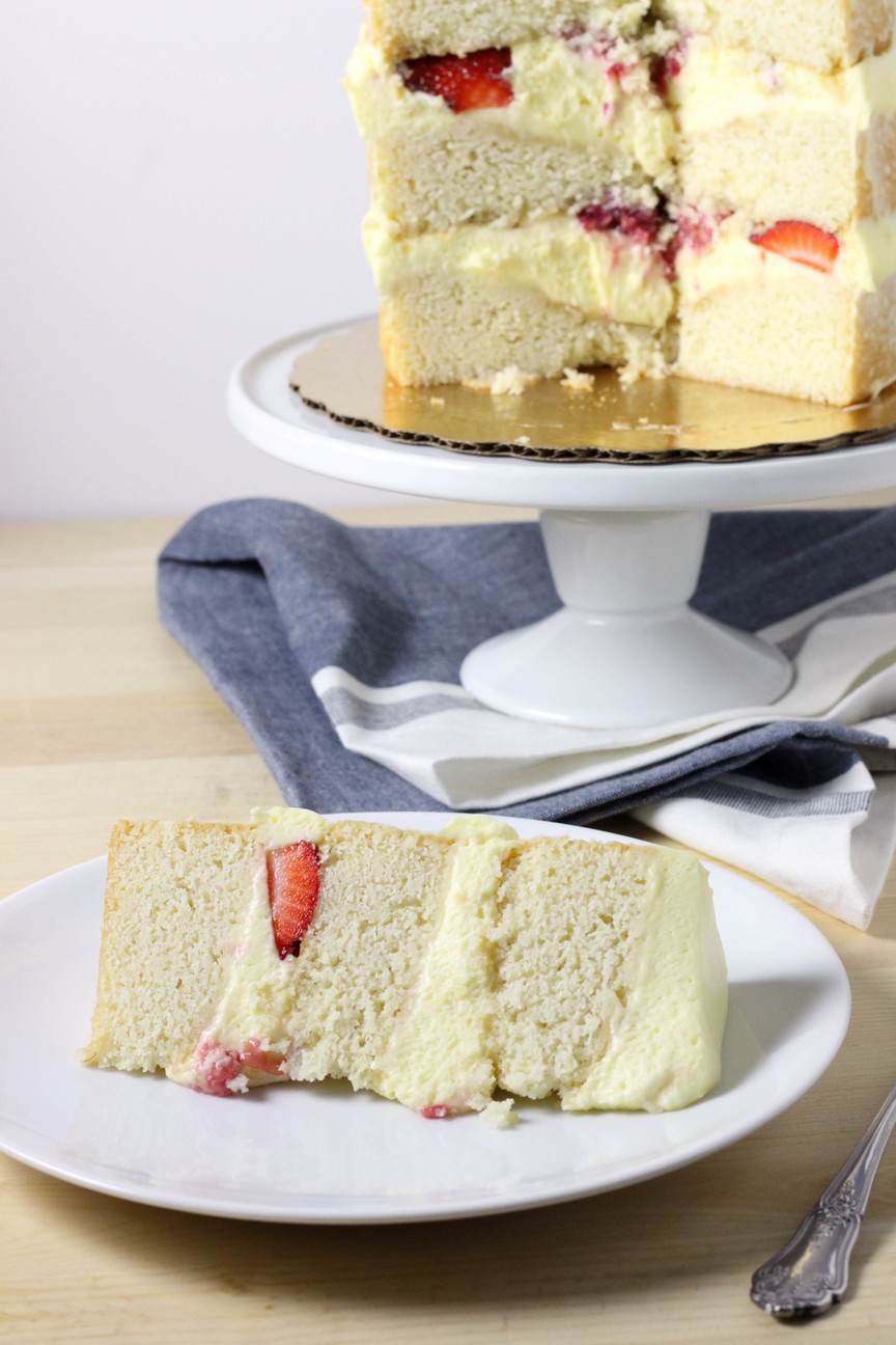 Berries and Cream Layer Cake Dough Eyed