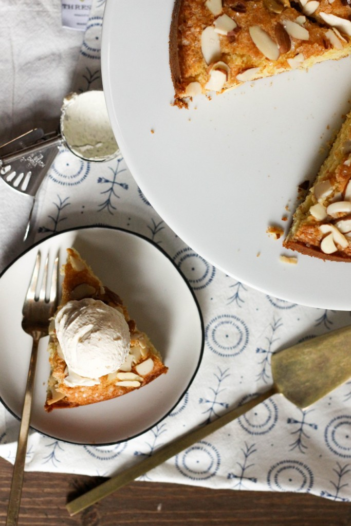 Cornmeal Cake with Caramel Whipped Cream