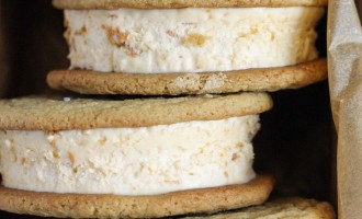 Butterscotch Ice Cream Sandwiches