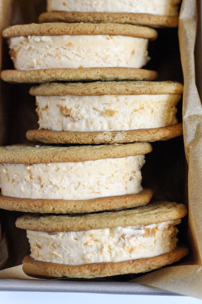 Butterscotch Ice Cream Sandwiches