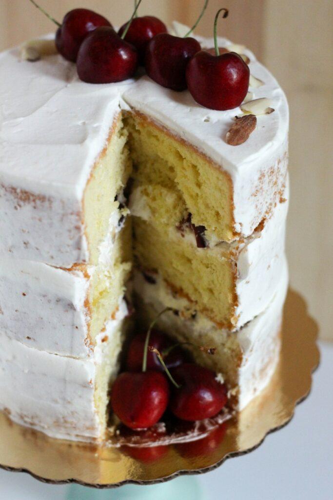 Cherry Almond Cake 8