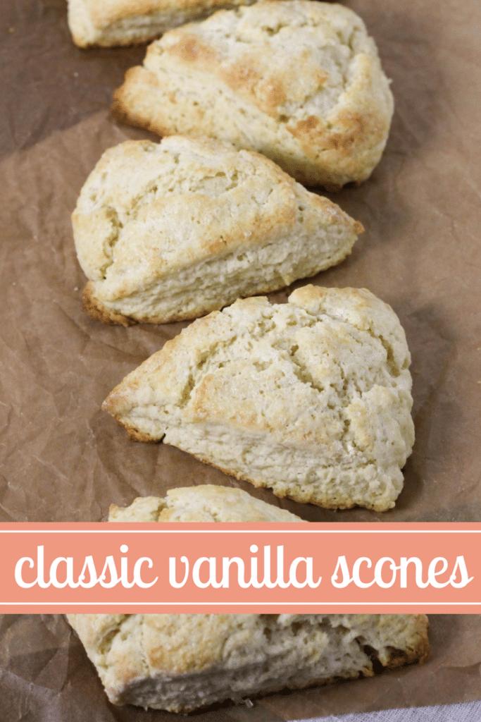 classic vanilla scones