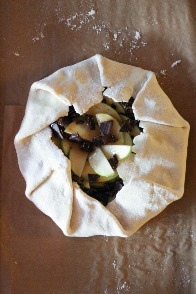 Chocolate Caramel Apple Galette