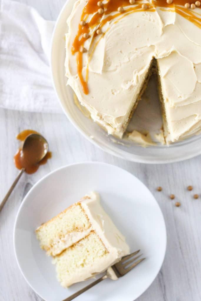 High-Altitude Caramel Cake