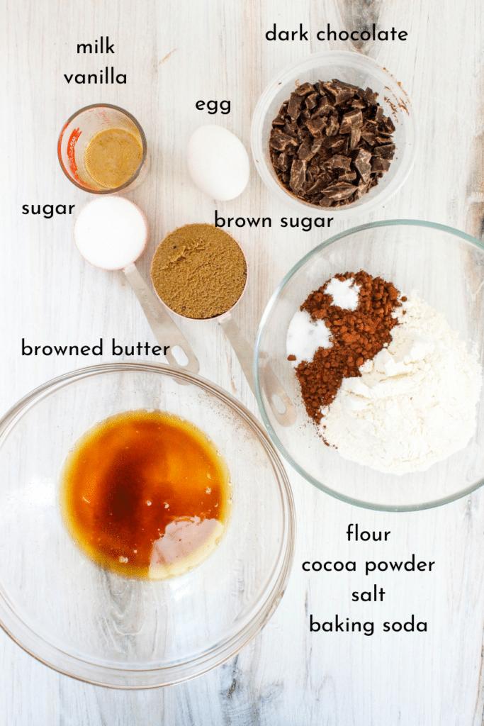 High-Altitude Chocolate Cookie Ingredients
